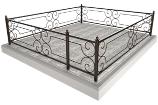 металлическая ограды, установка ограды, уход за могилами